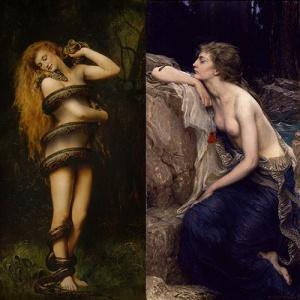 John Collier, Lilith - Herbert James Draper, Lamia